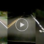 (Ada Video) Lelaki Temui Benda Misteri Melintas Depan Kereta Ketika Lalu Lewat Malam